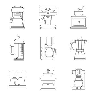 コーヒーメーカーポットエスプレッソのアイコンを設定