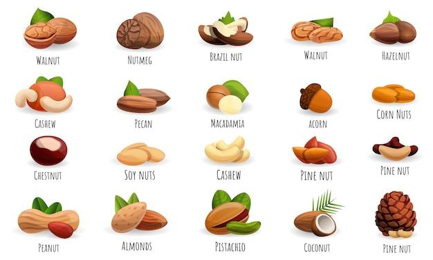 Набор иконок орехов
