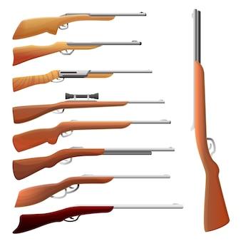 狩猟用ライフルセット、漫画のスタイル