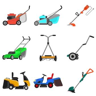 芝刈り機セット、フラットスタイル