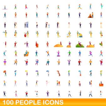 Набор иконок людей, мультяшном стиле