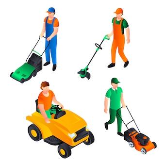 芝刈り機のアイコンを設定します。芝刈り機の等尺性セット
