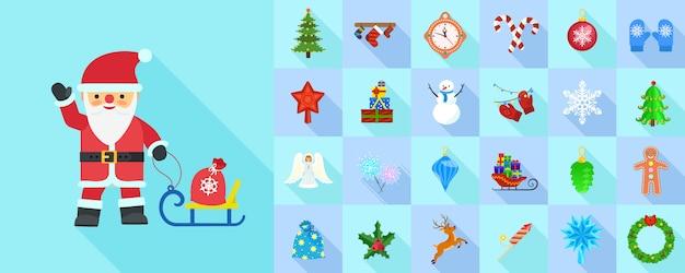 Рождественский набор иконок.