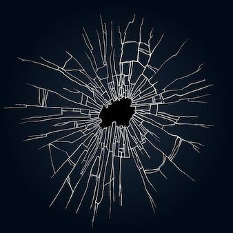 割れたガラスの図