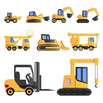 Набор иконок грузоподъемных машин