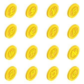 Набор иконок валюты
