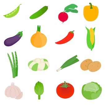 Набор иконок овощей