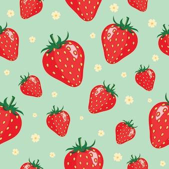 イチゴのパターンの背景