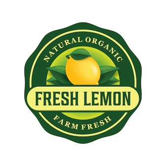 新鮮なレモンのロゴデザイン
