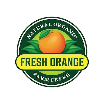 新鮮なオレンジのロゴデザイン
