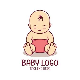赤ちゃんのロゴのテンプレート