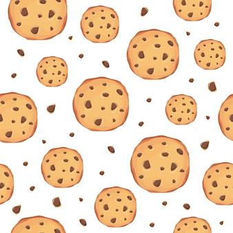 クッキーのパターンの背景