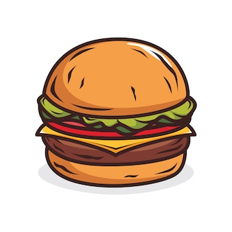 Иллюстрация бургер