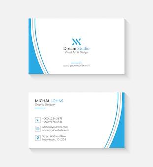 あなたのビジネスのためのロゴまたはアイコン付きのシンプルな名刺