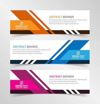 Вектор абстрактный дизайн современный баннер веб-шаблон