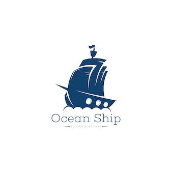 船のロゴのテンプレート