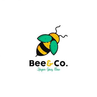 蜂のロゴのテンプレートベクトル