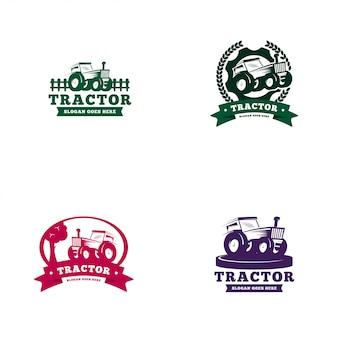 Шаблон логотипа трактора