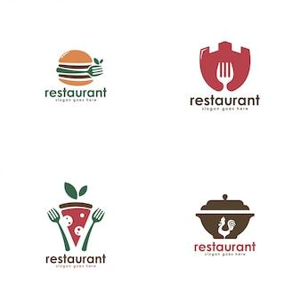 レストラン事業のロゴのテンプレート