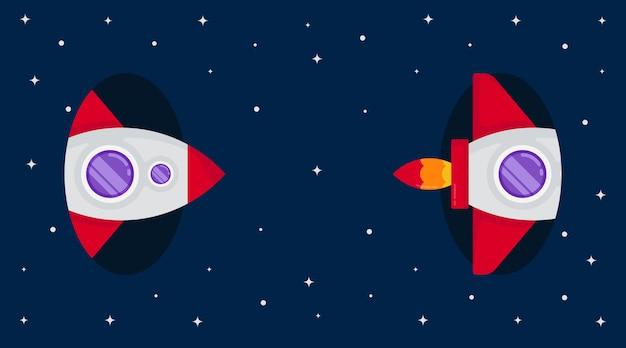 Космическое пространство фоновой иллюстрации