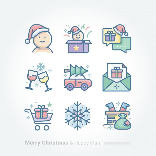 メリークリスマスとハッピーマンコレクション