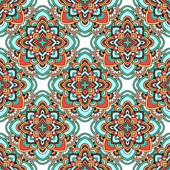 Индийский ковер племенной орнамент