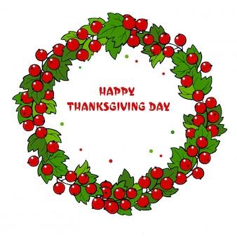 色鮮やかな紅葉から幸せな感謝祭の花輪