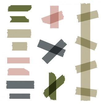 カラフルな異なるサイズの付箋のセット