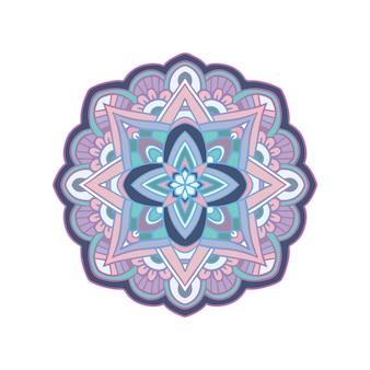 Цветочная мандала. османские мотивы и арабский стиль