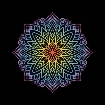 Круглая градиентная мандала йога