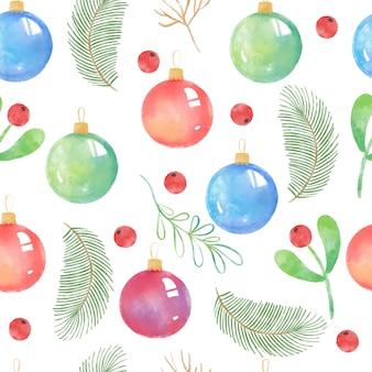 Рождественские украшения бесшовные модели