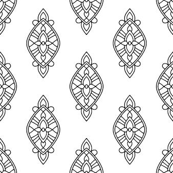 Орнамент племенной, стиль контура