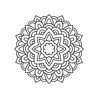 Раскраска мандала, контурная страница