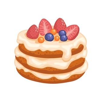漫画いちごケーキ
