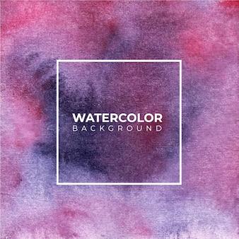紫色の抽象的な水彩画の背景、ハンドペイント。紙の上にはねかける色