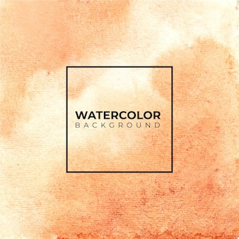茶色の水彩背景ブラシストロークイラスト