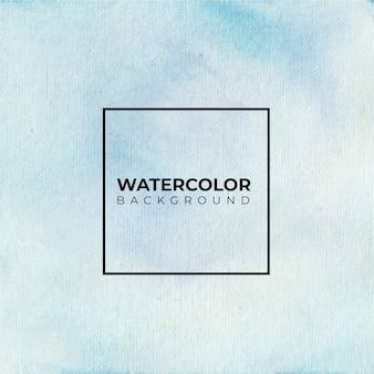 青い明るい水彩テクスチャ背景、ハンドペイント。