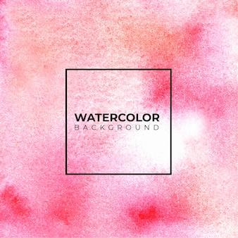 Розовая акварель фон рука краска. цвет брызг