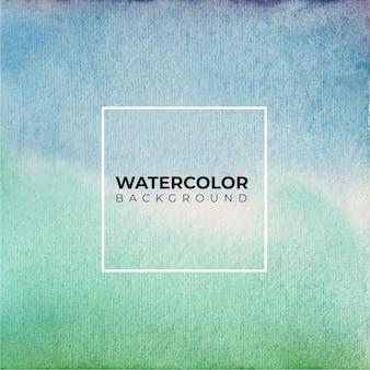 抽象的な青と緑の水彩画の背景。