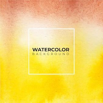 茶色と黄色の抽象的な黄色の水彩背景。