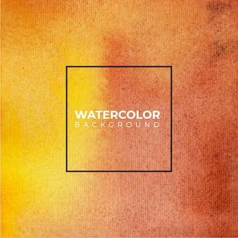 手描きのオレンジと茶色の背景の水彩テクスチャ
