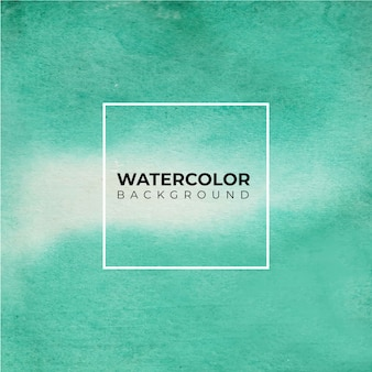 手描きの白い背景の上の緑の色の水彩テクスチャ。