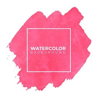 Розовый абстрактный фон акварелью, рука краска. цвет брызг на белой бумаге
