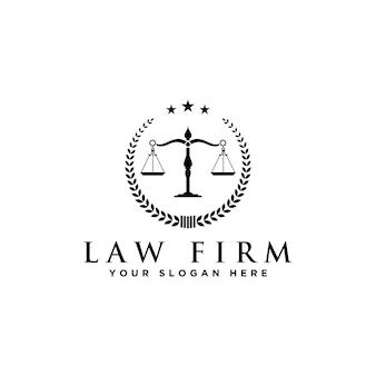 弁護士および法律のロゴ