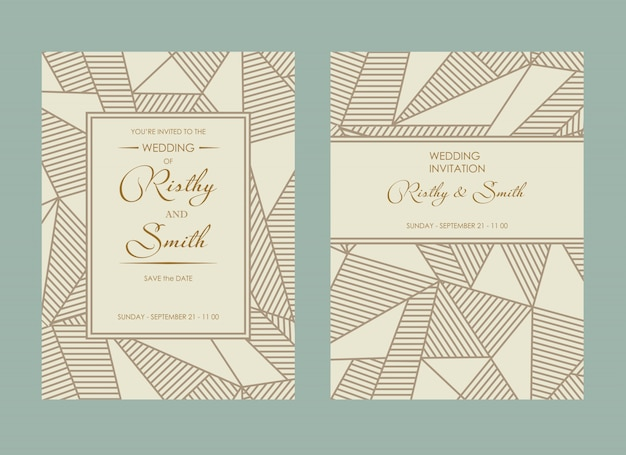豪華な結婚式の招待状