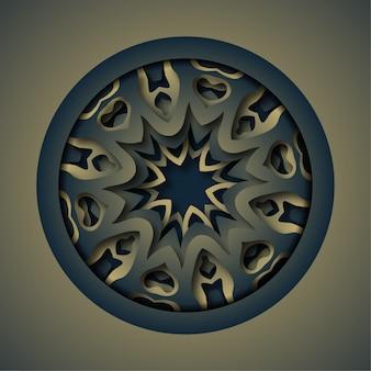 Орнамент абстрактный фон, лазерная резка мандалы
