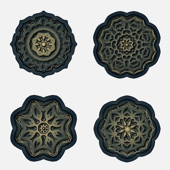 Орнамент мандалы дизайн, лазерная резка украшения