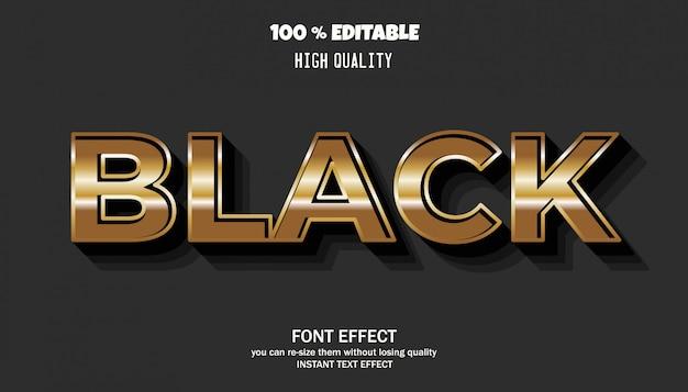 Редактируемый текстовый эффект, золотой стиль