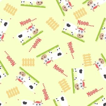 牛のシームレスなパターン