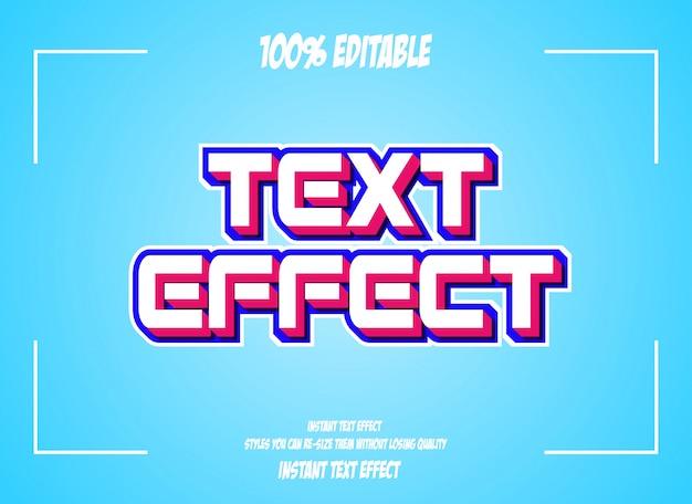 クールな未来的効果のためのテキスト効果、編集可能なテキスト